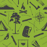 Seamless camping background Stock Image