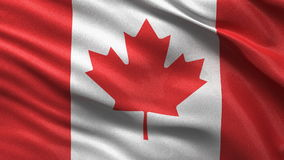Seamless Canadian Flag Stock Image