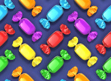 Seamless candies background Stock Images