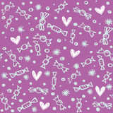 Seamless candies pattern Stock Image