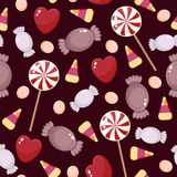 Seamless candies wallpaper Royalty Free Stock Image