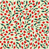 Seamless Candy Cane Background Royalty Free Stock Images