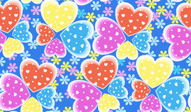 Seamless candy color hearts pattern, Valentines Royalty Free Stock Images