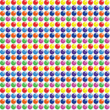 Seamless Candy Dots Background. Colourful shiny dots on white background Stock Photography