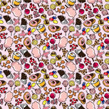 Seamless candy pattern. Drawing Royalty Free Stock Photography
