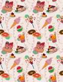 Seamless candy pattern. Drawing Royalty Free Stock Photo