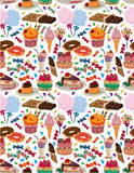 Seamless candy pattern. Drawing Royalty Free Stock Image