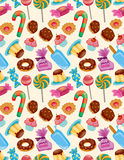 Seamless candy pattern vector illustration