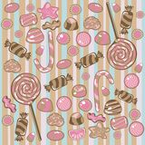 Seamless Candy Pattern Stock Photography