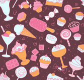 Seamless candy pattern Stock Photo