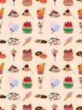 Seamless candy pattern. Cartoon vector illustration Royalty Free Stock Photo