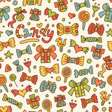 Seamless candy pattern Stock Photos