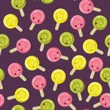 Seamless candy pattern. Stock Photo