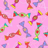 Seamless candy pattern. Vector illustration of a seamless candy pattern Royalty Free Stock Photography