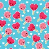 Seamless candy pattern Stock Photo