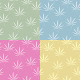 Seamless cannabis pattern. A seamless grunge cannabis, marijuana leaf background in pastel colors Stock Images