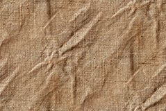 Seamless canvas or jute texture Stock Photos