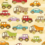 Seamless car grunge retro background Royalty Free Stock Image