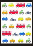 Seamless car pattern Royalty Free Stock Images