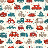 Seamless car pattern. Illustration Stock Photography