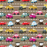 Seamless car pattern Stock Image