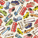 Seamless car pattern. Vector drawing Royalty Free Stock Image