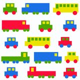 Seamless car pattern Royalty Free Stock Photos