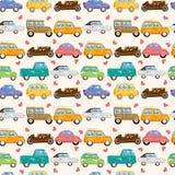 Seamless car pattern. Drawing Royalty Free Stock Image