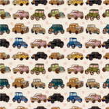 Seamless car pattern Stock Images