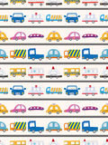 Seamless car pattern. Cartoon vector illustration Royalty Free Stock Images