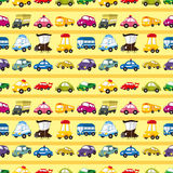 Seamless car pattern. Cartoon vector illustration Royalty Free Stock Photo