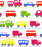 Seamless car on wheels pattern Royalty Free Stock Image