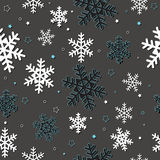 Seamless card with snowflakes Stock Images