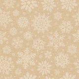 Seamless cardboard pattern with snowflake. Stock Photos