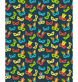 Seamless carnival masks pattern isolated on blue Stock Photography