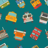 Seamless cars background and pattern Stock Photography