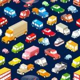 Seamless  cars Stock Photo