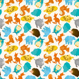 Seamless cartoon animal pattern Royalty Free Stock Photo