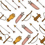 Seamless cartoon archery background Royalty Free Stock Photos