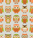 Seamless cartoon bird pattern Royalty Free Stock Photos