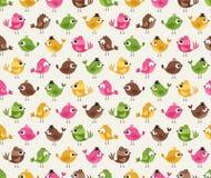 Seamless cartoon birds pattern Stock Image