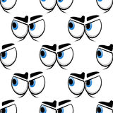 Seamless cartoon blue eyes pattern Stock Images