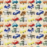 Seamless cartoon car pattern Royalty Free Stock Photography