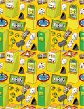 Seamless cartoon casino pattern Royalty Free Stock Image