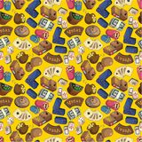 Seamless cartoon casion pattern Royalty Free Stock Images