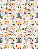 Seamless cartoon chef pattern Royalty Free Stock Photos
