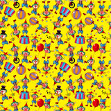 Seamless cartoon circus clown pattern Royalty Free Stock Image