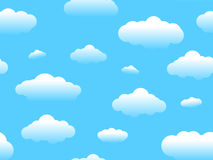 Seamless Cartoon Cloud Royalty Free Stock Photo