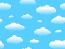 Seamless Cartoon Cloud Royalty Free Stock Photo