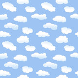 Seamless Cartoon Clouds royalty free illustration